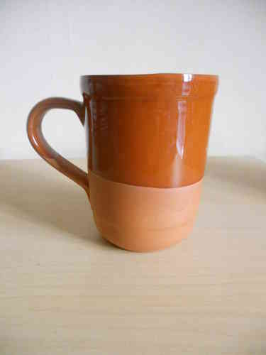 Rustic cup with handle