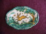 Tray in traditional green (15 cm wide)