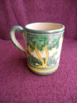 Mug in traditional green (24 cm wide)