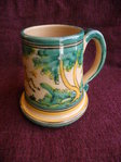 Beer mug in traditional green