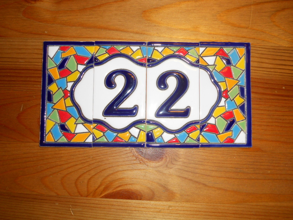 Numbers and letters tiles 11 cm high 1 tile2 frame borders address house tiles of letters and doublecrazyfo Gallery
