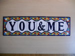 11 cm high (6 tiles+ 2 borders). Address house tiles of letters and numbers in Gaudi style